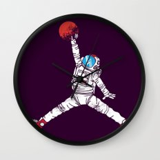space dunk (purple ver.) Wall Clock