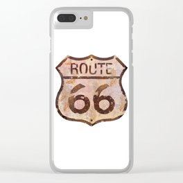 Route 66 Clear iPhone Case