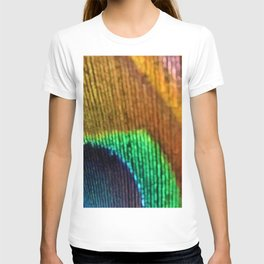 Peacock Feather Rainbow T-shirt