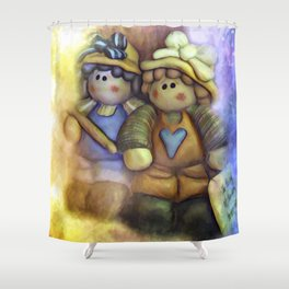 Friends On The Road Less Traveled Shower Curtain
