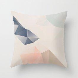 Pastel – poster minimal, pure, creme beige art, rose blue nude art, geometric, scandinavian art Throw Pillow