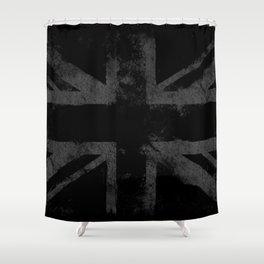 Grey Grunge UK flag Shower Curtain