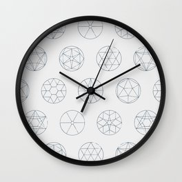 Geocircles (Blue) Wall Clock