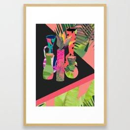 Jungle Pop! Retro Vases Framed Art Print