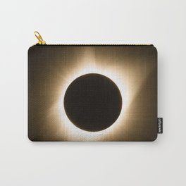 Totality - 2017 Total Solar Eclipse with Golden Corona Carry-All Pouch
