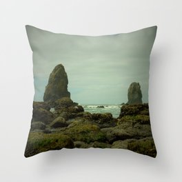 The Haystack's Sentinels Throw Pillow