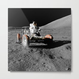 Apollo 17 - Moon Buggy Metal Print