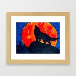 Wolf's Cry Framed Art Print