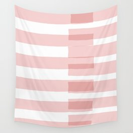 Big Stripes in Pink Wall Tapestry