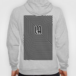 LA echo / Lined frame expanding from LA text Hoody