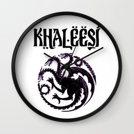 Khaleesi.dragon Wall Clock