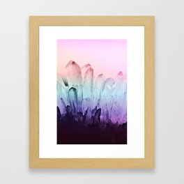 FESTIVAL RAINBOW CRYSTAL Framed Art Print
