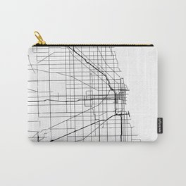 Minimal City Maps - Map Of Chicago, Illinois, United States Carry-All Pouch