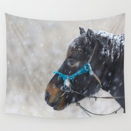Winter Horse II Wall Tapestry