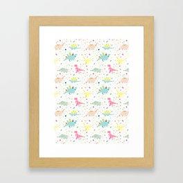 Dinosaur Pattern Framed Art Print