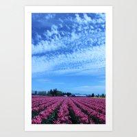 Tulips to the Sky Art Print