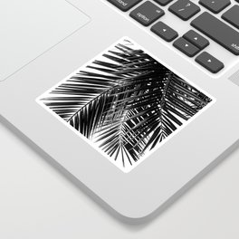 Tropical Vibes | Black and White Sticker