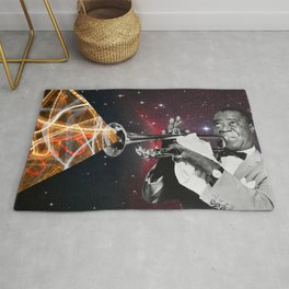 Louis Light (Louis Armstrong Space Collage) Rug