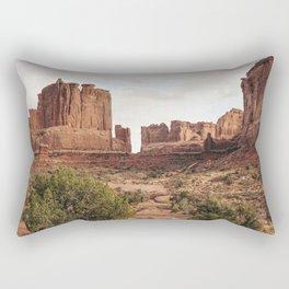 Desert Red Utah Rocks Rectangular Pillow