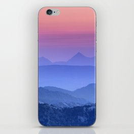 """""""Mountain dreams"""". At sunset. iPhone Skin"""
