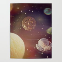 Planets of the ice shapes galaxy Poster
