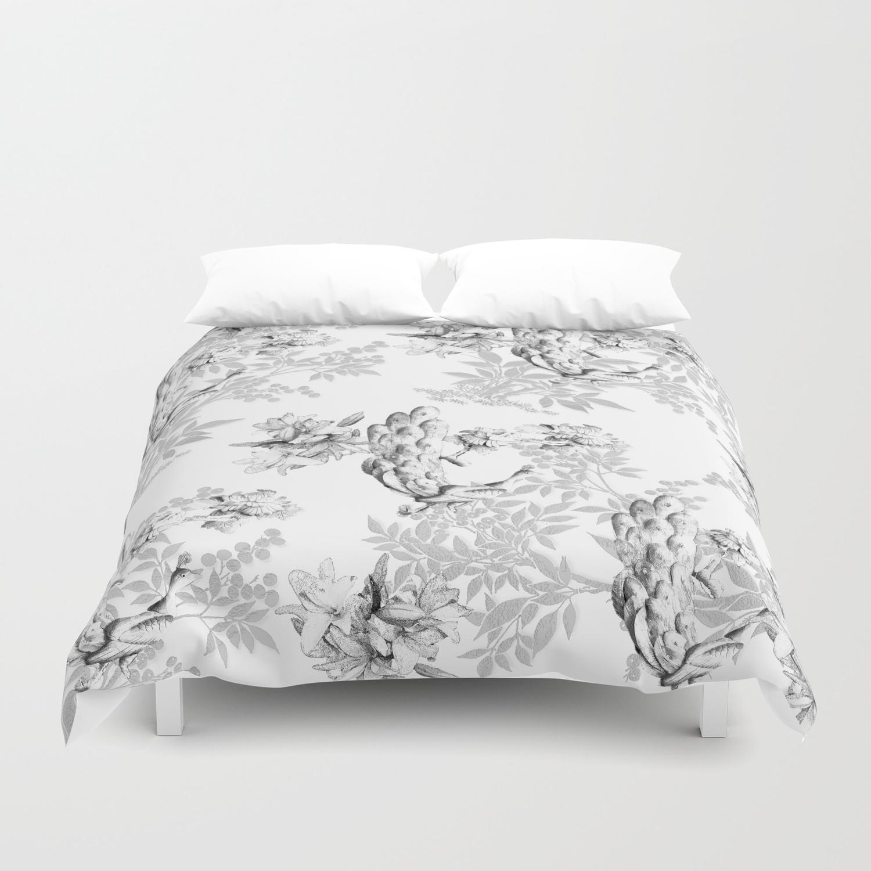 Gray Pattern Duvet Cover