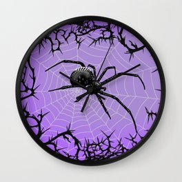 Briar Web- Purple Wall Clock