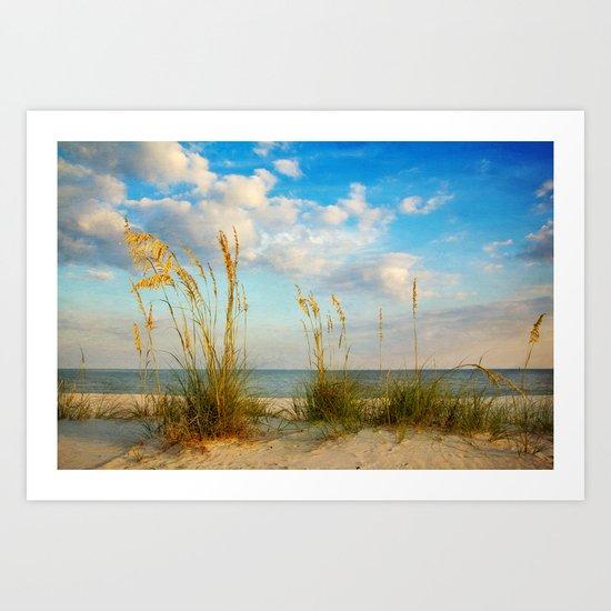 Sea Oats along the Beach Art Print