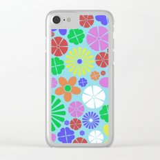 Colourful Colorful Flowers Pattern Clear iPhone Case
