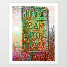No parking! Art Print