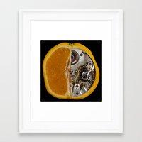 clockwork orange Framed Art Prints featuring Clockwork Orange by Cornish Seascapes