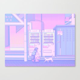 Vending Machines Canvas Print
