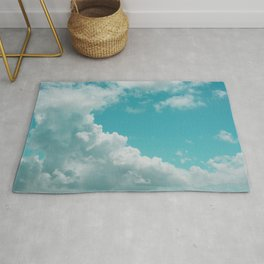 Bouncy Clouds Over Galveston Rug