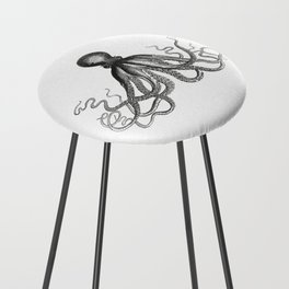 Octopus | Black and White Counter Stool