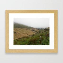 Brecon Beacons in the fog Framed Art Print