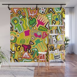 color doodle Wall Mural