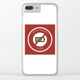 No E-Bike No Battery Clear iPhone Case