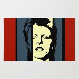 David Bowie Retro Homage Rug