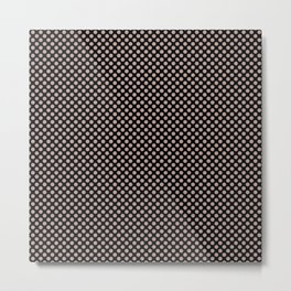 Black and Adobe Rose Polka Dots Metal Print