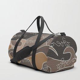 Waves V earth colors V Duffle Bags Duffle Bag