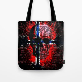 Skull circuit (norway-flag) Tote Bag
