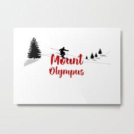 Ski at Mount Olympus Metal Print