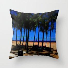 Hawaii Beach At Midday Throw Pillow