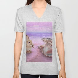 Iridescent Love Unisex V-Neck