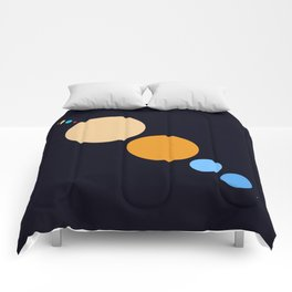 Planets To Scale (Diagonal) Comforters