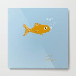 Sad Fishy Metal Print