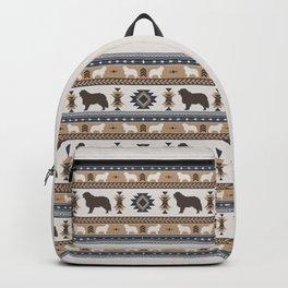 Boho dogs   Berner Sennenhund/Bernese mountain dog tan Backpack