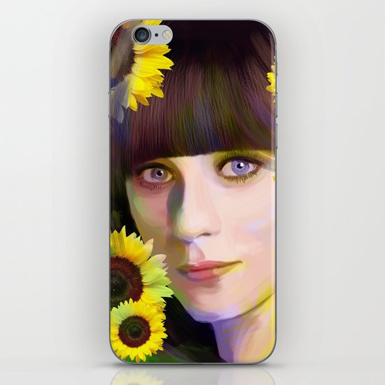 Zooey Deschanel iPhone & iPod Skin