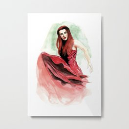 The Red Woman Metal Print
