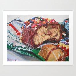 Birthday Cake Egg Art Print